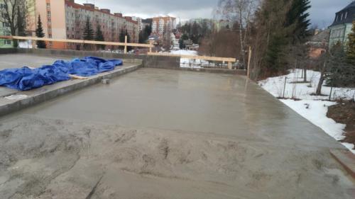 spádový beton - strop