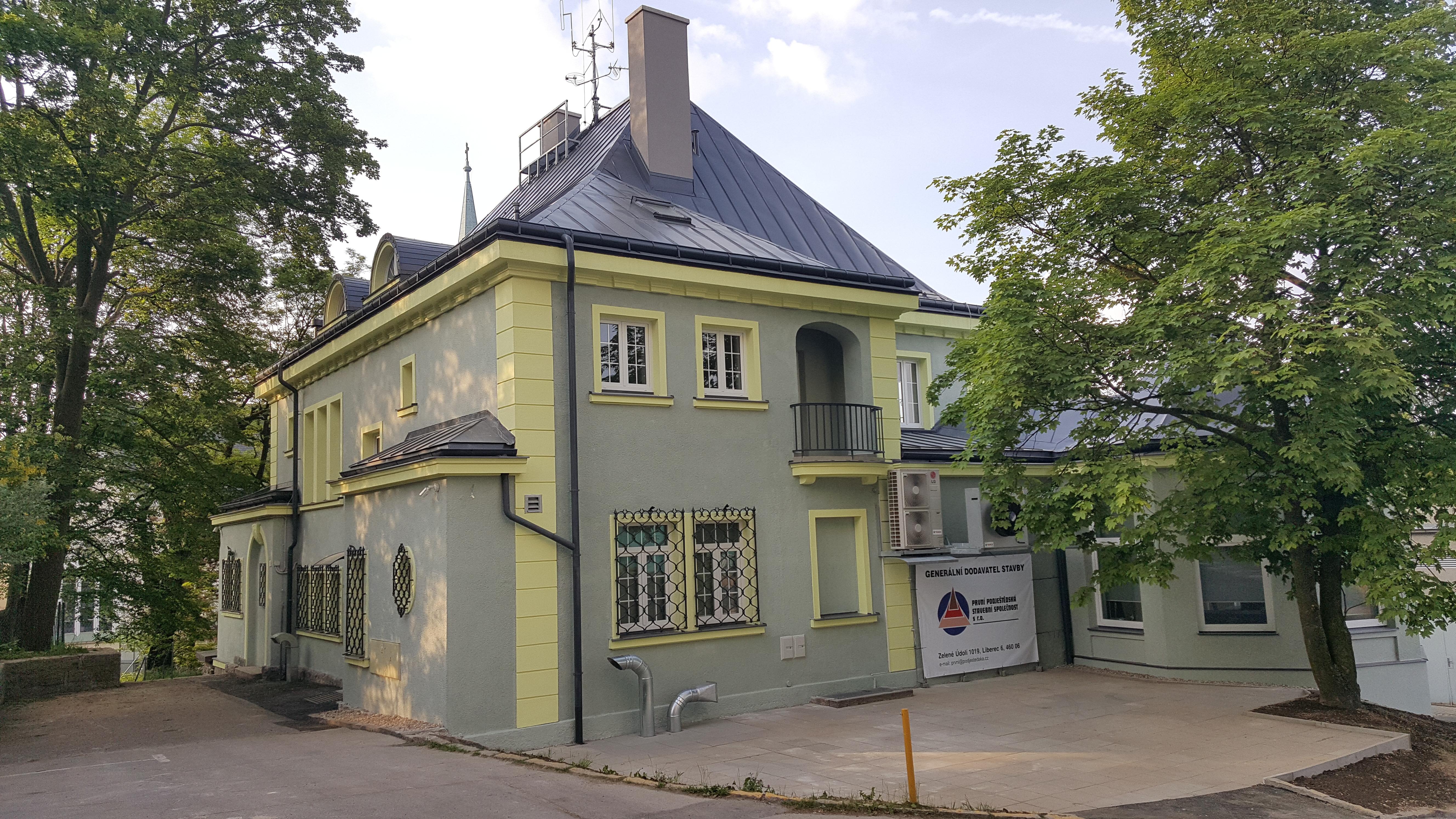 Rekonstrukce budovy záchranné služby Liberec